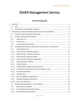 EKAER Management Service