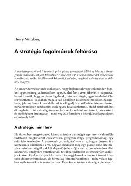 A stratégia fogalmának feltárása