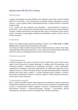 innen tölthető le - Magyar Public Relations Szövetség