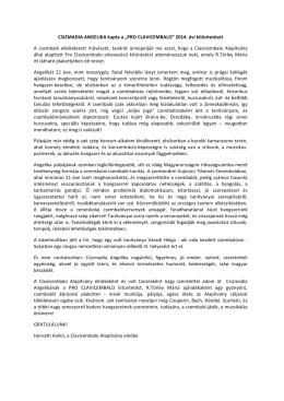 Horváth Anikó laudációja - Újabb magyar tehetség tarolt