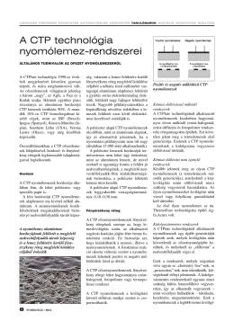 A CTP technológia nyomólemez-rendszerei (PDF