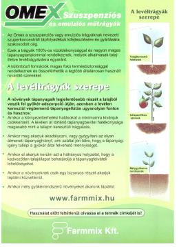 Omex szuszpenziós és emulziós mûtrágyák