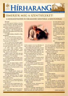 5. évf. 2. szám - Megtestesülés Plébánia