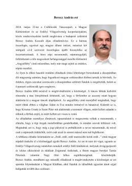 Berecz András est - Stuttgarti Magyarok Oldala