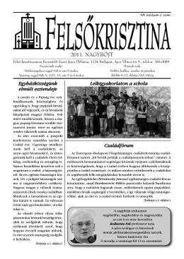2011. NAGYBÖJT - Felső-krisztinavárosi Keresztelő Szent János