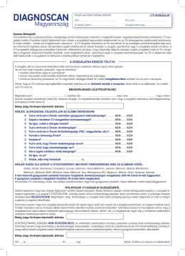 Beleegyező nyilatkozat - Diagnoscan Magyarország