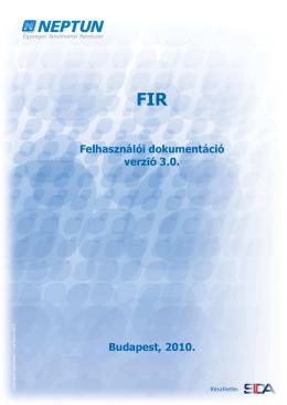 FIR üzenetek