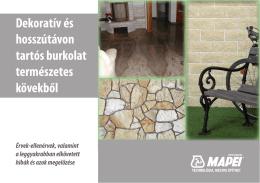 Dekoratív és hosszútávon tartós burkolat természetes kövekből