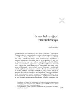 Sonkoly Gábor: Pannonhalma újkori territorializációja