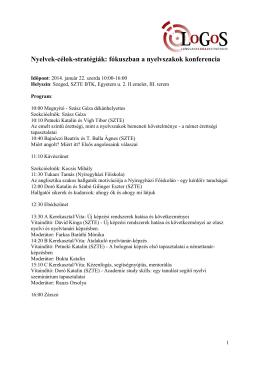 Nyelvek-célok-stratégiák: fókuszban a nyelvszakok konferencia