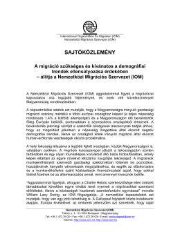 Nemzetkzi Migrcis Szervezet _IOM_ - Sajtkzlemny