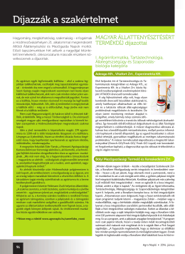 Agro Napló 2014/ Június - Alföldi Állattenyésztési és Mezőgazda