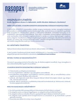 Nasopax Sensitive izoozmotikus orrspray