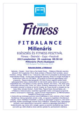 Órarend - Fitbalance