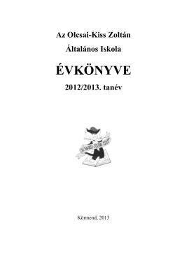 Az évkönyv pdf formátumban olvasható a honlapunkon itt.