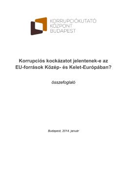 Korrupciós kockázatot jelentenek-e az EU-források Közép- és