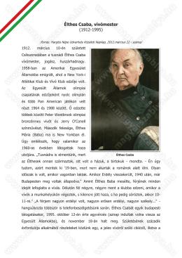 Élthes Csaba, vívómester (1912-1995) Élthhes Csaba, vívómestteer
