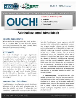 Adathalász email támadások