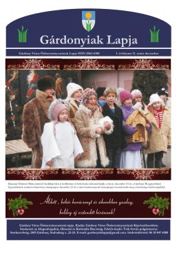 Gárdonyiak Lapja 2012. december hónap