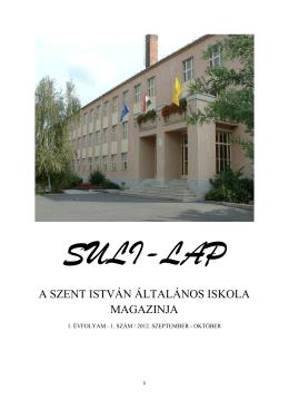a szent istván általános iskola magazinja - szentistvan