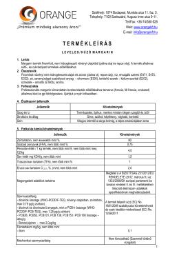 Termékleírás - Leveles/Húzó margarin (PDF)