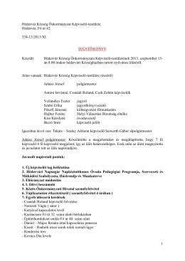Nyilvános testületi ülés - Jegyzőkönyv - 2013-09-13