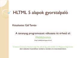 HTML5 alapok