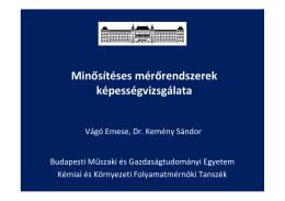 dr.Vágó Emese: Minősítéses mérőrendszerek képességvizsgálata