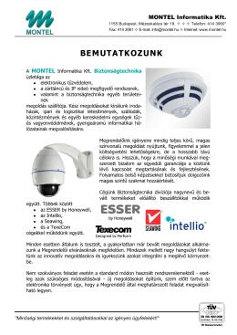 BEMUTATKOZUNK - Montel Informatika Kft.