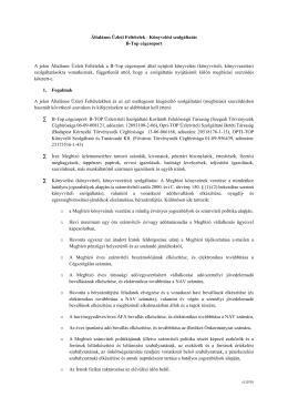 Általános Üzleti Feltételek - Könyvelési szolgáltatás B - e