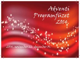 Adventi Programfüzet 2014.