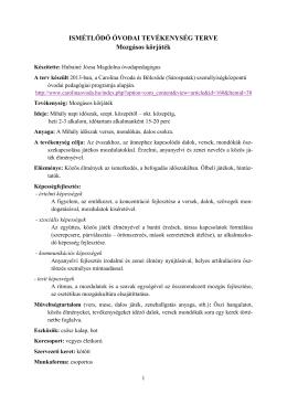 Hubainé Józsa Magdolna: Mozgásos körjáték