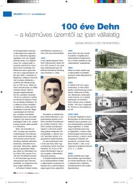 100 éve DEHN - a kézműves üzemtől az ipari vállatatig