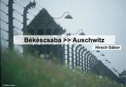 Békéscsaba >> Auschwitz