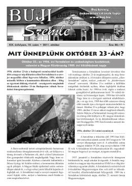 Mit ünneplünk október 23-án?