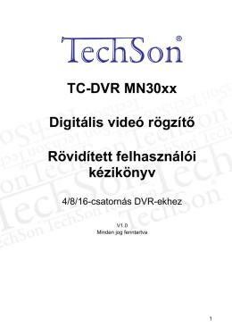 LetöltésTechson DVR használati útmutaó