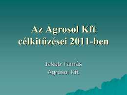 Az Agrosol Kft szerepe az irtószer disztribúcióban