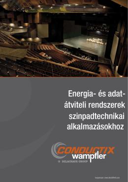 Energia- és adat- átviteli rendszerek szinpadtechnikai