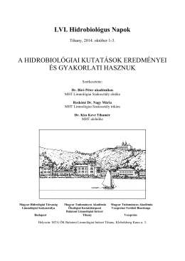 LVI. Hidrobiológus napok - Balatoni Limnológiai Kutatóintézet