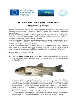 Dr. Mucsi Imre – Lódi György – Sztanó János Magyarországi halfajok