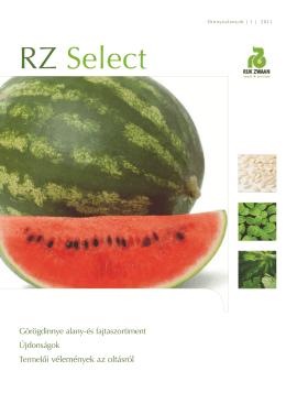 RZ Select Görögdinnye és alany szortiment 2011