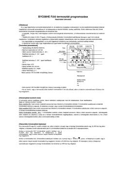 BYC08HE Fűtő termosztát programozása