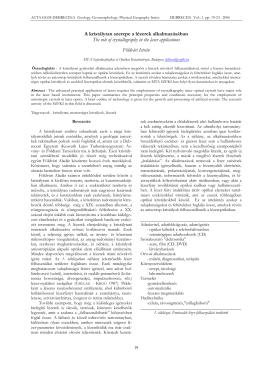 A kristálytan szerepe a lézerek alkalmazásában The role of