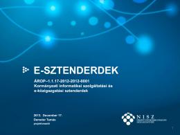 E-SZTENDERDEK