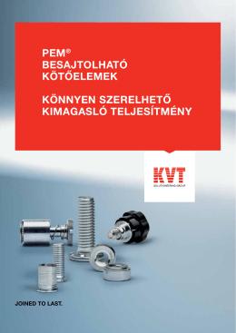 PEM® Bepréselhető rögzítőelemek - KVT