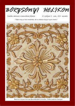 Börzsönyi Helikon - Irodalmi, művészeti folyóirat