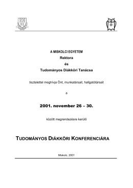 2001. évi TDK Konferencia