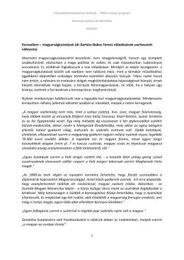 Korszellem – magyarságkutatások (dr.Kertész