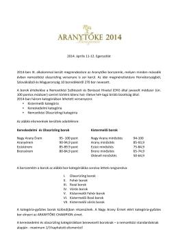 2014. április 11-12. Egerszólát 2014