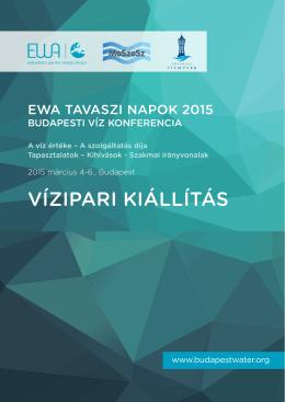 VÍZIPArI KIállÍTáS - EWA Spring Days 2015 Budapest Water